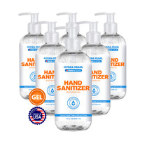 Hand Sanitizer Gel with Ethyl Alcohol 70 Percent  Non-Sticky, Unscented Bulk Hand Sanitizer with Pump for Office Supplies, Schools, and More by Hydra Pearl (10 Ounce (6-Pack))