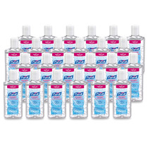 PURELL Advanced Hand Sanitizer, Refreshing Gel, Clean Scent, 4 fl oz Sanitizer Portable Flip Cap Bottles (Case of 24)