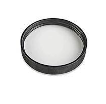 89-400  Neck Black PP plastic ribbed skirt lid with heat induction seal (HIS) liner (for PET containers only)