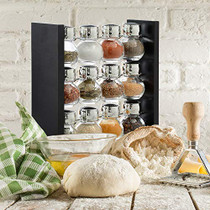 Belwares Spice Rack Stand Holder - 12 Bottles Countertop Species Organizer - Keeps a Dozen Flavors Close at Hand (Spices Not Included)