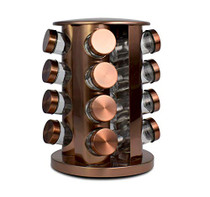 Le Regalo Copper Rack with 16 Spice Jars