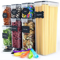 Chef's Path Airtight Food Storage Container Set - 7 PC - Kitchen & Pantry Organization Ideal for Flour, Sugar, Cereal & More - BPA-Free