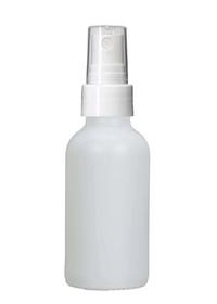 4 Oz Matt White Glass Bottle w/ White Fine Mist Sprayer