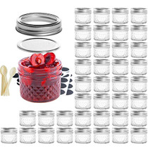 Mason Jar BPA-Free 4oz Mini Canning Jars with Regular Lids and Bands, 40 PACK