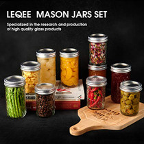 Mason Jars 12 oz 16 PACK Mini Canning Jars with Silver Lids and Bands