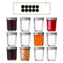 6 oz Regular Mouth Mason Jars with Lids and Bands-Set of 12