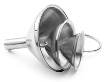 Small Funnel Set 3-Piece Stainless Steel for Spices, Essentail Oil, and Flask Funnel