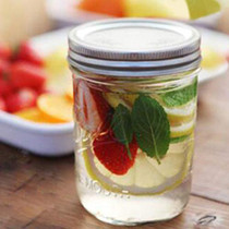 12 Pack Mason Jars with Lids 16 oz Wide Mouth Canning Glass Jars