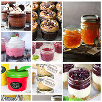 Mason Jars Canning Jars, Jelly Jars With Regular Lids,Magnetic Spice Jars, 4 OZ x 10, 6 OZ x 10, 8 OZ x 10