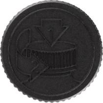 38-400  Neck Black PP plastic child-resistant PE  lined lid - 48 Count
