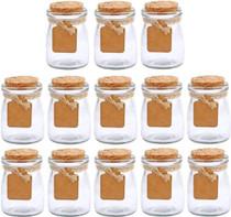 30Pcs Glass Favor Jar With Cork Lids,Multifunctional,Great Decoration(100 ML,3.4OZ)