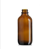 4 oz Amber Glass Bottle w/ White Regular Glass Dropper