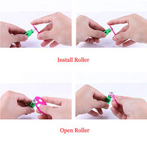 24X 5ml Refillable Glass Perfume Bottle Metal Ball Roller Essential Oil Aromatherapy-1611550050