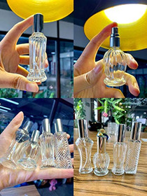 Refillable Empty Glass Bottle Wedding Decor Lady Gifts Set of 8