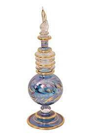 CraftsOfEgypt Egyptian Perfume Bottles Single Large Hand Blown Decorative Pyrex Glass Vial Height inch 7.75 inch (20 cm)