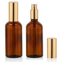 Amber Glass Spray Bottle 3.4oz for Cologne,Perfume,Essential Oils,Refillable Fine Mist Spray (2 PACK)