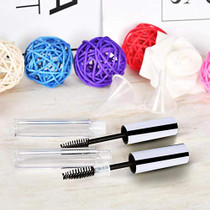 10Pcs 4ml Empty Mascara Tube and Wand, DIY Mascara Container with Cap,eyelash Tubes Vials Bottle with Rubber Inserts and Funnels Kit for Castor Oil
