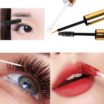 10ml Empty Mascara Tube Eyeliner Cream Container Bottle, Lip Gloss Bottle with 3 Piece Funnel & Rubber Inserts for Castor Oil(Golden)