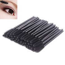 Pack of 100 One-Off Disposable Silicone Eyelash Mascara Brushes Wands Applicator Eyebrow Brush Makeup Tool Kit Set (Tower Shape - Black)