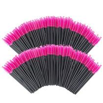 Multicolor Disposable Eyelash Mascara Brushes Wands Applicator Makeup Brush Kits (200 red)…