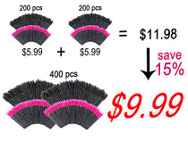 GoWorth 400 PCS Disposable Eyelash Mascara Brushes Makeup Brush Wands Applicator Makeup Kits (Rose Red & Black)…