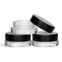 450 pcs, 7mL clear glass low-profile jar with 38-400 neck finish