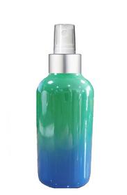 1 Oz Sage Green and Blue Multi-fade Bottle w/ White - Silver Fine Mist Sprayer