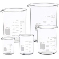 Graduated Glass Measuring Low Form Beaker Set 5 Pcs (50ml 100ml 250ml 400ml 600 ml)-1612662509