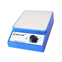 INTLLAB Magnetic Stirrer Stainless Steel Magnetic Mixer with stir bar (No Heating) Max Stirring Capacity: 3000ml