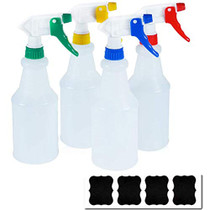 Cosywell Plastic Spray Bottles 750 ml Heavy Duty Spraying Bottle Leak Proof Mist Water Bottle for Chemical and Cleaning Solutions All-Purpose Adjustable Head Sprayer 4 Pack
