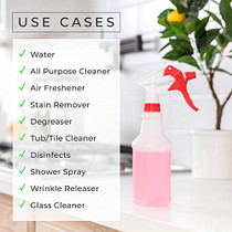 Empty Cleaning Spray Bottle (4 Pack, 16 Oz) Cleaning Solutions, Leakproof, Heavy Duty, Commercial, Household Use, Adjustable Nozzle, Plant Mister, Small/Medium size