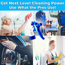 28-400  neck Leak-Free Chemical Resistant Spray Head 10 Pack. BOTTLES NOT INCLUDED. Industrial Sprayer for Car Detailing, Window Cleaning and Janitorial Supply. Low-Fatigue Trigger and Nozzle Fit 32oz Bottle