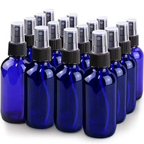 Spray Bottle, Wedama 4oz Fine Mist Glass Spray Bottle, Little Refillable Liquid Containers for Watering Flowers Cleaning(16 Pack, Blue)