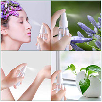 Clear 100ml(3.4oz) Refillable Sprayer Bottles Fine Mist Spray Bottle Container for Essential Oils, Travel, Perfumes, 24 Pcs