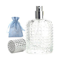 50ml Thick Clear Glass Fine Mist Spray Scent Aftershave Luxury Perfume Bottle Empty Atomizer Bottle Makeup Tool 1pc free Funnel Filler 1PC Free 3ml dropper 1pc free Storage bag