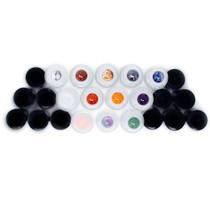 Gemstone Roller Balls For Essential Oils - 13 Beautiful Glass Roller Bottles With Precious Gemstones and Crystals Tops - For Blending Including Tiger Eye, Rose Quartz, Amethyst