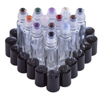 Gemstone Roller Balls For Essential Oils - 13 Beautiful Glass Roller Bottles With Precious Gemstones