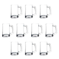14 oz. ARC Glass Beer Mugs - 10 pack - Clear