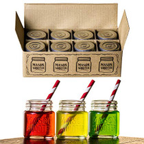 Mason Jar Shot Glasses with Lids (Set of 8)  Mini Mason Shooter Glass - 2 Ounces - For Drinks, Liquor, Favors, Desserts, Parties, Birthdays, Gifts