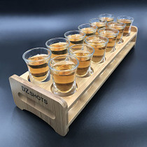 D&Z 12 Pcs Shot Glass Set with Tray,Thick Base Crystal Clear Shot Glasses and Bamboo Holder for Barware, Shot Glass Display,Drinking Whisky Brandy Vodka Rum and Tequila Shot Set,0.75oz