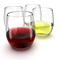 Stemless Wine Glasses Set of 4-15 0z. Oversized Wine Glass - Made from BPA-Free, Sturdy Glass - Dishwasher Safe - Perfect to Use As Red Wine Glasses or White Wine Glasses.