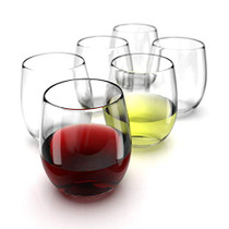 Stemless Wine Glasses Set of 6-15 0z. Oversized Wine Glass - Made from BPA-Free, Sturdy Glass - Dishwasher Safe - Perfect to Use As Red Wine Glasses or White Wine Glasses