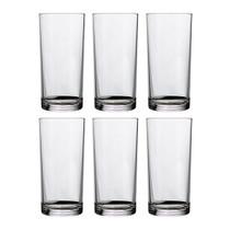 Classic 16-ounce Premium Quality Plastic Water Tumbler | Clear Set of 6