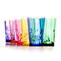 19 oz Unbreakable Premium Drinking Glasses - Set of 6 - Tritan Plastic Tumbler Cups - Perfect for Gifts - BPA Free - Dishwasher Safe - Stackable
