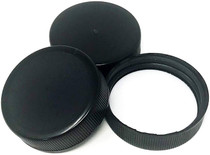Screw Caps, 38/400, Black - Pack of 20 - Compatible with 12oz Beverage/Sauce and Gallon Jugs