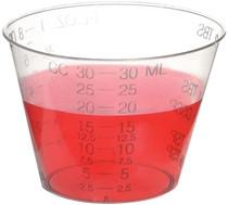 Disposable Graduated Measuring Plastic Medicine Cups 1 Ounce