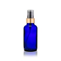 2 Oz Cobalt Blue Bottle w/ Black-Matte Gold Treatment Pump