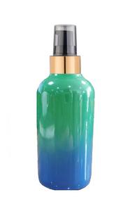 1 Oz Sage Green and Blue Multi-fade Bottle w/ Black-Matt Gold Treatment Pump