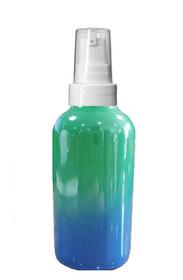 1 Oz Sage Green and Blue Multi-fade Bottle w/ White Treatment Pump