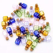 2ml Small Mini Glass Bottles Jars with Cork Stoppers.Wishing bottle drifting bottle wedding party DIY Etc. (J-20Pcs)